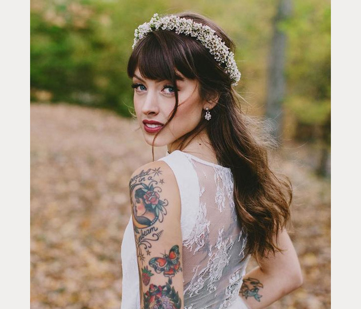 bride with bangs ~ we ❤ this! moncheribridals.com