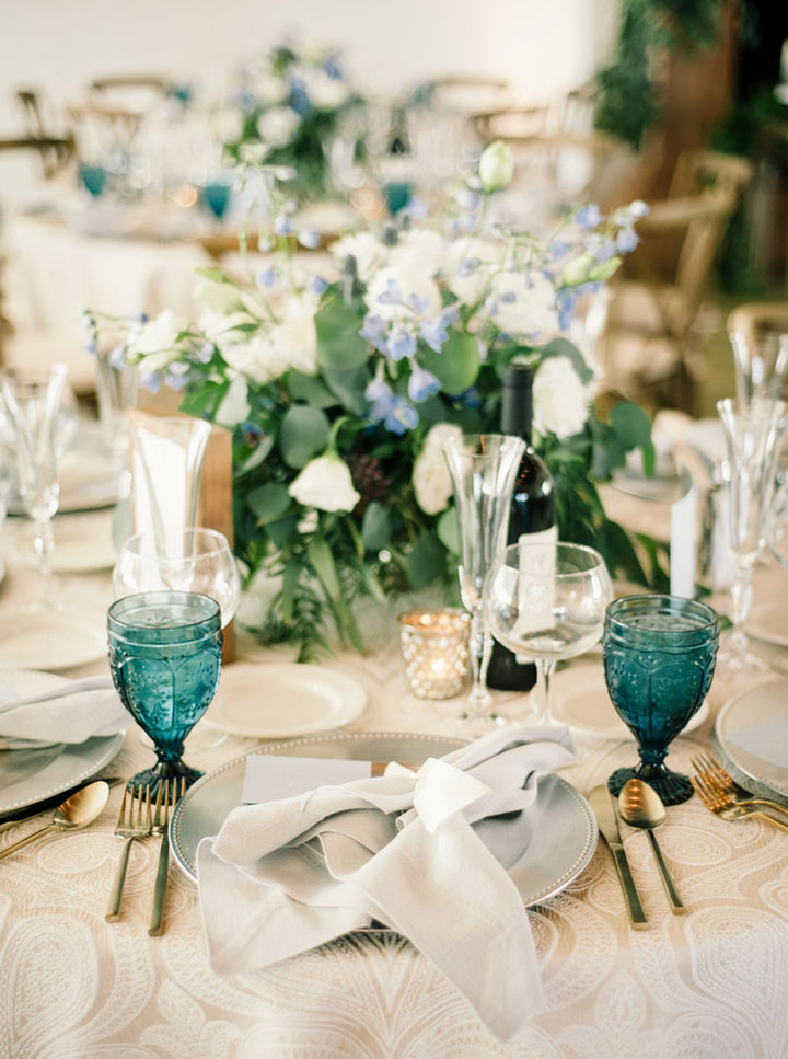 "Wedding With A Muted Hue of ""Cinderella Blue"""