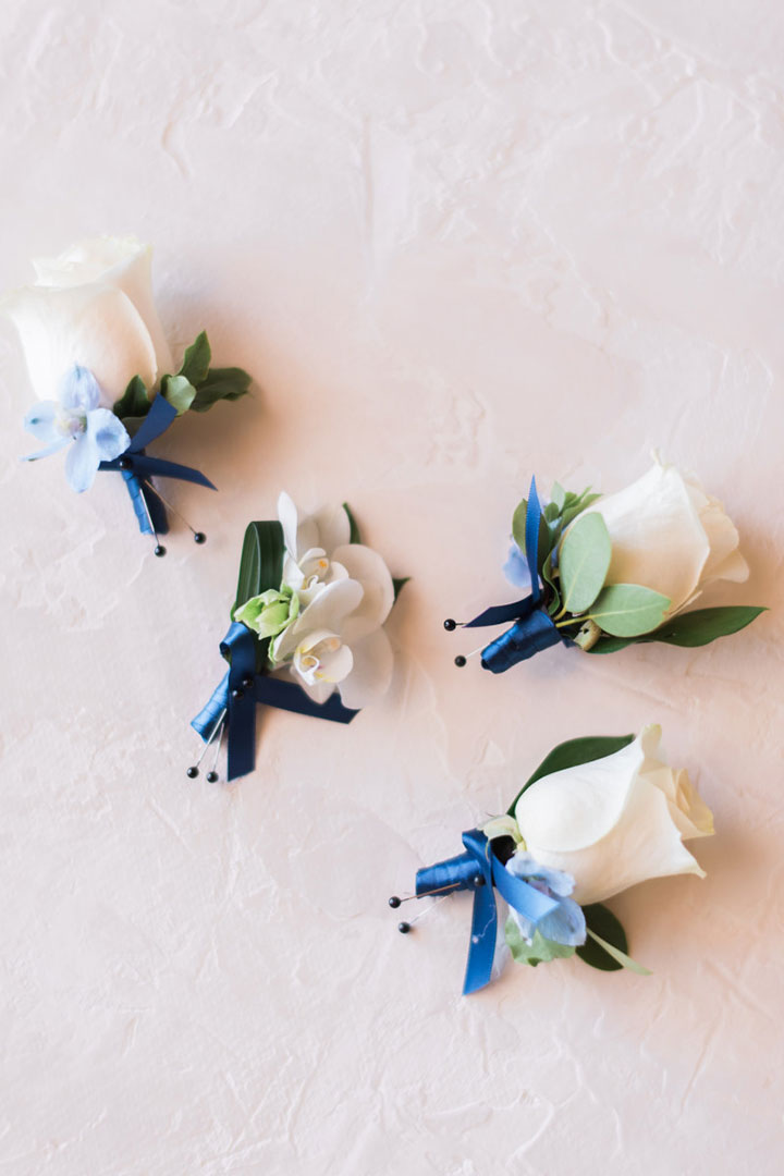 Classic White Wedding With A Little Blue Hue