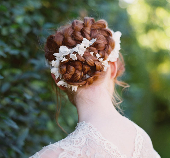 Dutch Braid Updo Perfect For The Romantic Bride