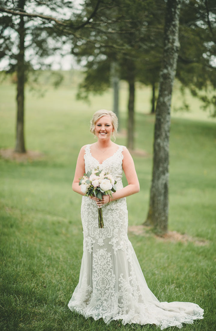 "Sweet Bride Wears Martin Thornburg ""Amber"" For Her Vineyard Wedding"