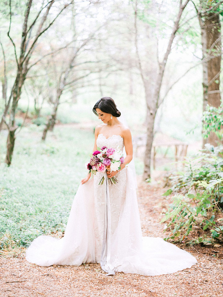 "Elegant Spring Bride Wears Martin Thornburg ""Cielo"" For Her Garden Wedding"