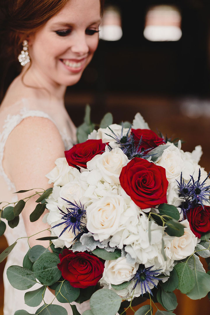 A Little Red, White & Blue Real Wedding Inspo