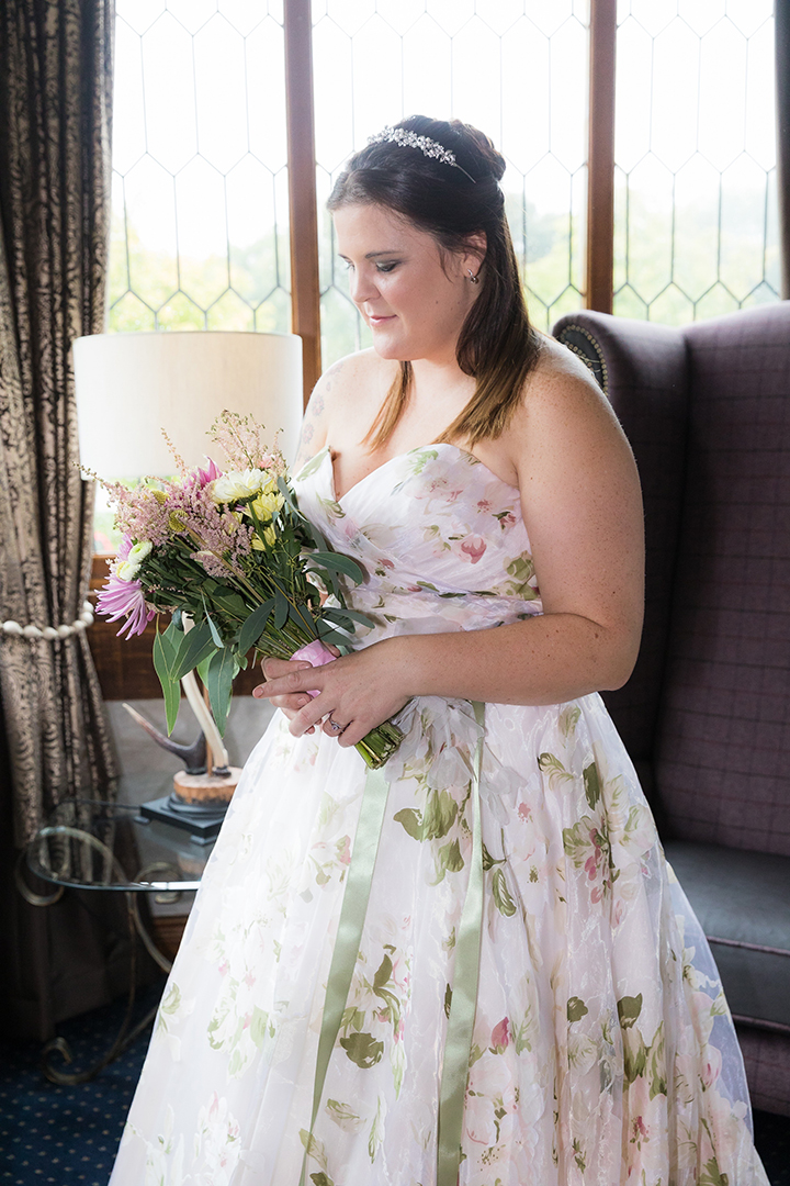 "Finding ""The One"" With Martin Thornburg Strapless, Floral Organza Gown"