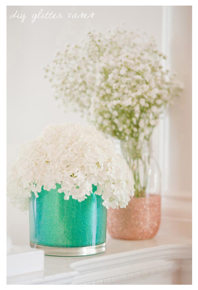 we ❤ this!  moncheribridals.com #glitterweddingvases