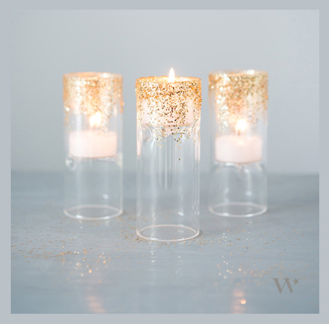 we ❤ this!  moncheribridals.com #glitterweddingvotives