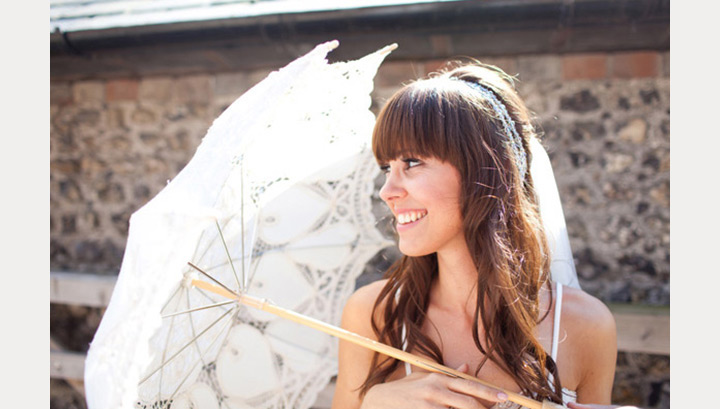 40 Beautiful Brides With Bangs