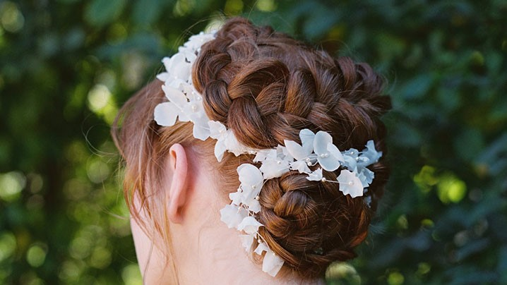 Dutch Braid Updo, Perfect For The Romantic Bride