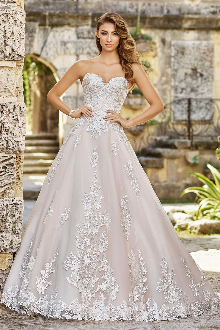 Gina Sweet Strapless Lace and Organza A-Line Gown