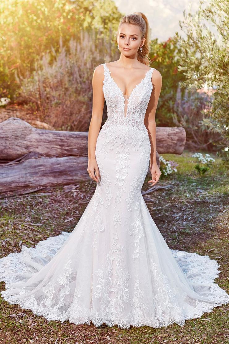 Alizia Seductive lace mermaid gown with plunging V-neckline
