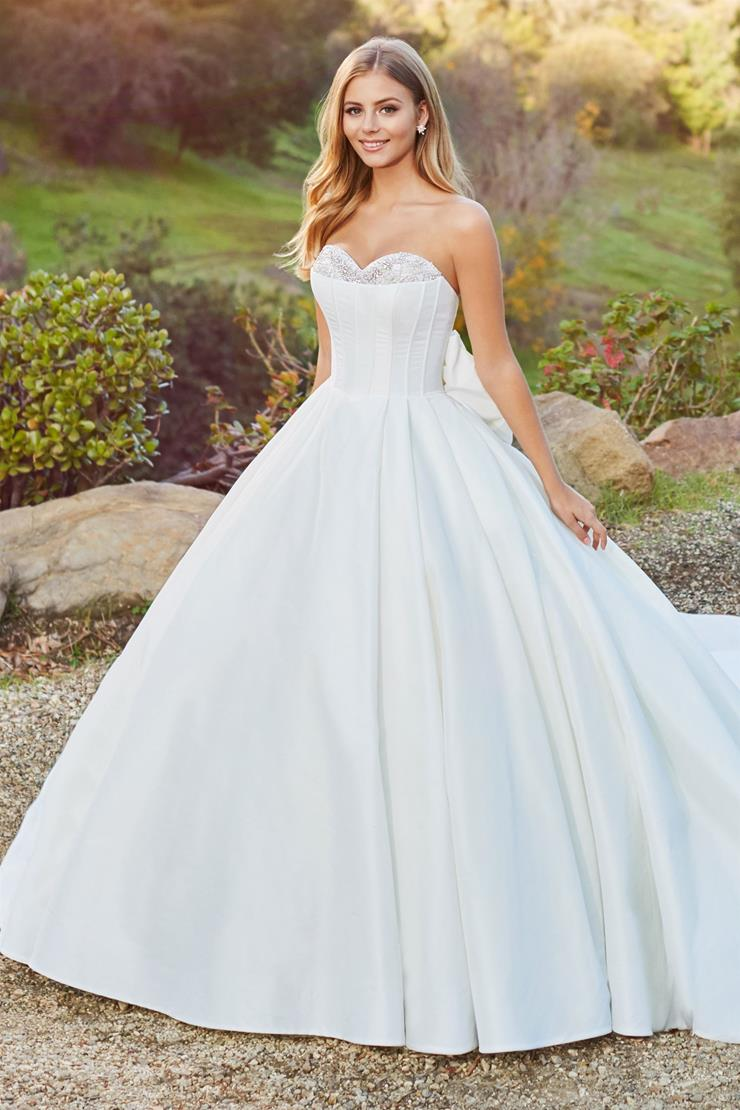 Adelaide Grand strapless ball gown with oversized bow detail at back